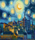 AFTER:  Tribute To Vincent - Stockholm Starry Night