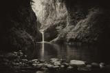 Punchbowl Falls - BW