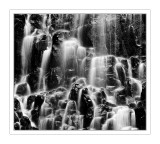 Ramona Falls in Black and White