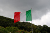 Tricolour Flag at the Polish Cemetery Montecassino