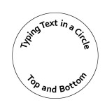 Typing Text in a Circle