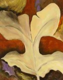 Herbstblatt Leinwand 50x60 Acryl