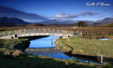 Footbridge and Snowdon