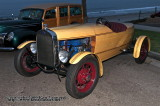 Custom wooden boat tail built on a Deuce Chassis