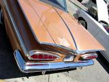 1959 Chevrolet Impala-Rearview featuring cat-eye taillamps and batwing fins
