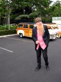 Billy F Gibbons / ZZ Top checking out the cars