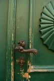 Lion Handle Green Door