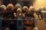 Painted Eggs in Shop Window
