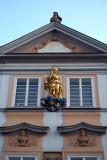Golden Statue on Building Prague