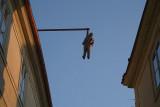 Man Hanging Out by David Cerny Prague 04