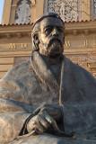 Statue by the Vltava River Prague