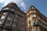 Looking up Wenceslas Square Prague