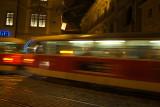 Tram at Night Prague