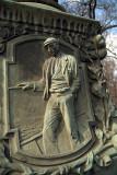 Figure on Lamp Post Prague