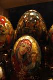 Painted Eggs in Shop Window 06