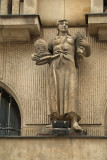 Building Detail - Figure Woman with Food