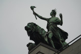 Building Detail - Man and Lion