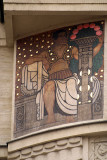 Building Detail - Painted Wall Figure