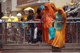 Women Wearing Orange in Orchha