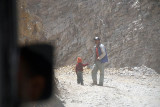20 Man and Boy on Road Leaving Spiti