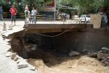 Damage to Changspa Bridge