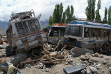 Smashed Buses Leh