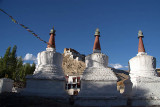 Stupas and Thiksey Monastery 02