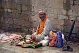 Brahmin on Ghat at Pashupatinath 02