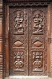 Carved Wooden Door Bhaktapur