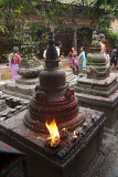 Burning Offering on Stupa Pancha Dan