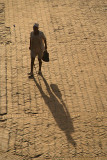 Man and Shadow in Durbar Square Bhaktapur