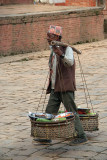 Man with Baskets of Vegetables Bhaktapur