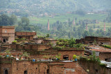 Brick Buildings with Brick Factories in the Background