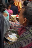 Women with Plates of Offerings Pancha Dan 06