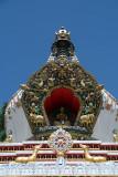 1000 Buddha Stupa Detail Kopan Monastery 03