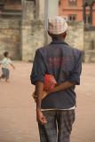 Man and Boy in Durbar Square Bhaktapur