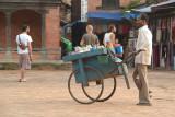 Man Selling Food Durbar Square Bhaktapur