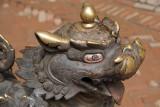 Metal Fu with Painted Eyes Bhaktapur