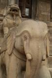 Stone Elephant in Durbar Square Bhaktapur