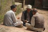Three Men Playing Cards Bhaktapur