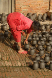 Woman in Potters Square Bhaktapur
