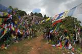 Prayer Flags above Monastery Pharping 01