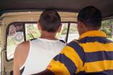 Chris Driving the Tuk Tuk