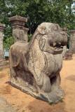 Stone Lion on Kings Council Chamber Polonnaruwa