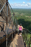 Climbing Down from Sigriya