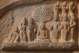 Carving of Buddha at Brihadeeswarar Temple
