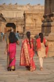 Colourful Women at Brihadeeswarar Temple