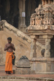 Pilgrim at Brihadeeswarar Temple