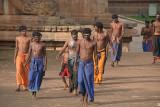 Pilgrims at Brihadeeswarar Temple