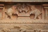 Elephants and God on Shrine of Sri Subramanya